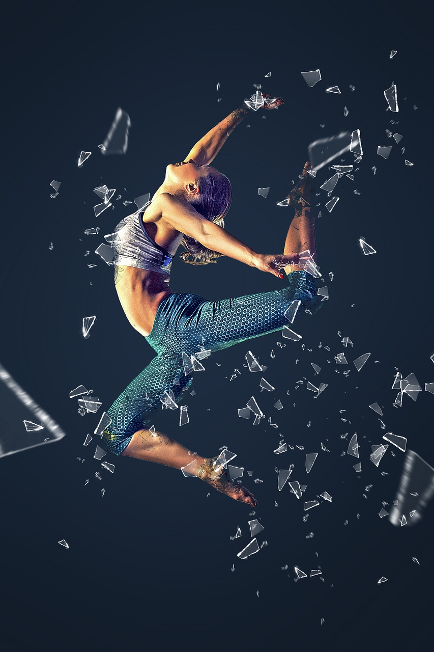 woman, girl, jumping